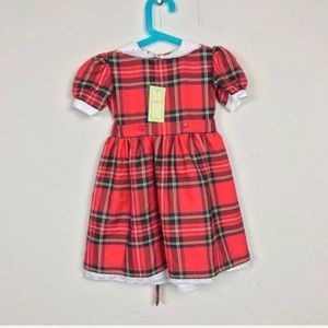 Girl Holidays Dress Royal Plaid Sz 2-3Y